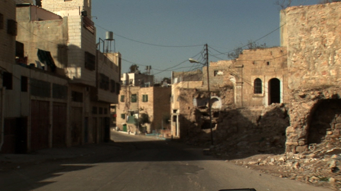 Driving into Hebron (front passenger perspective)